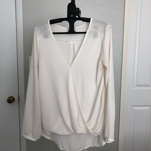 Long sleeve cream LUSH top